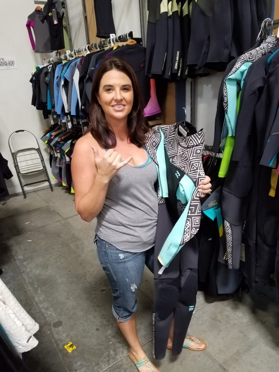 I found my wetsuit!