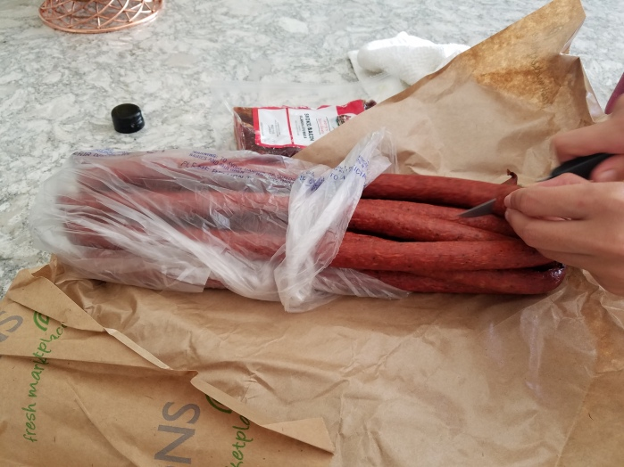 Cured sausage links