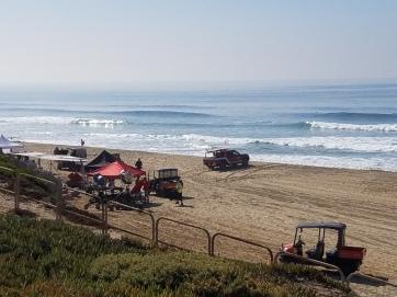Beach Filming Crew