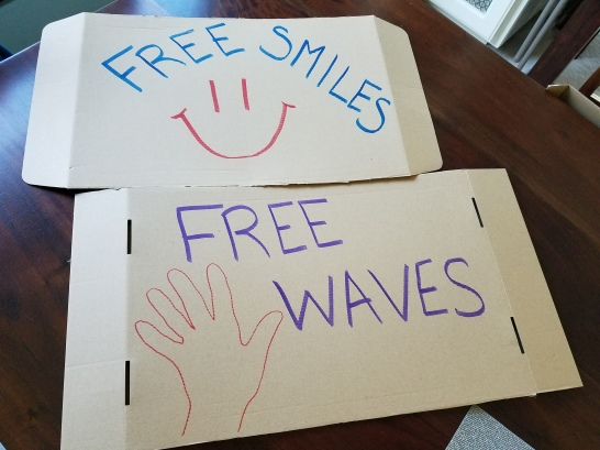 My free smiles and waves signs!