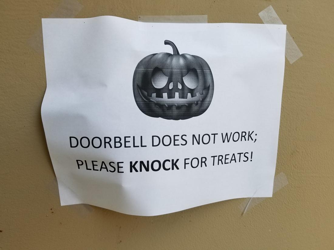 Doorbell Sign