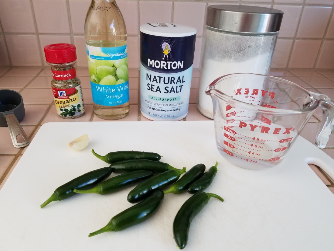 Ingredients for Pickling Peppers