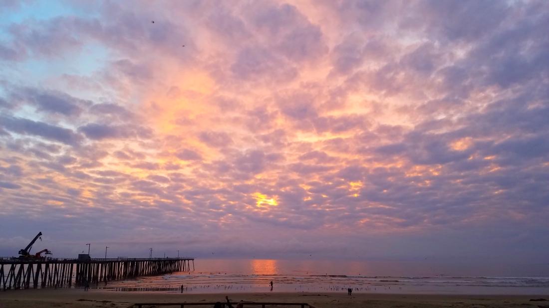 Sunset Pismo Pier